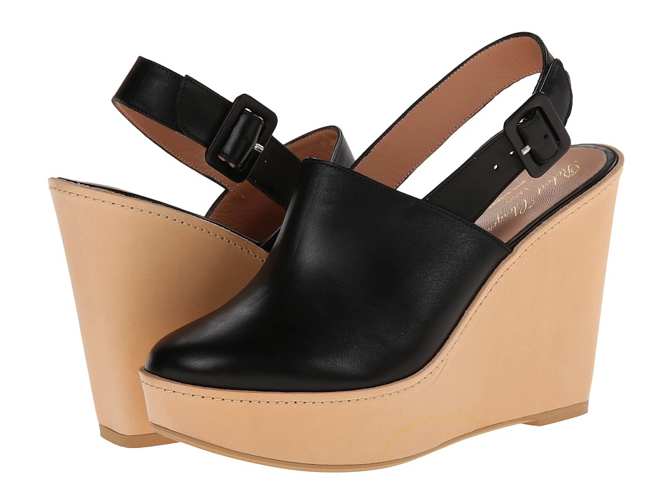 Robert Clergerie French (Black Leather Calf) Women