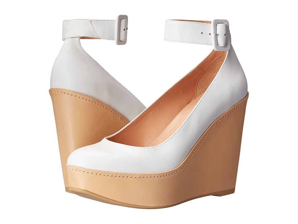 Robert Clergerie - Ferdie (White Leather Calf) Women's Wedge Shoes
