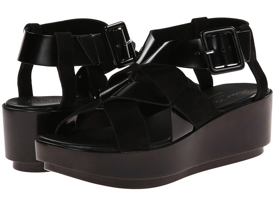 Robert Clergerie - Phort (Black Suede) Women's Wedge Shoes