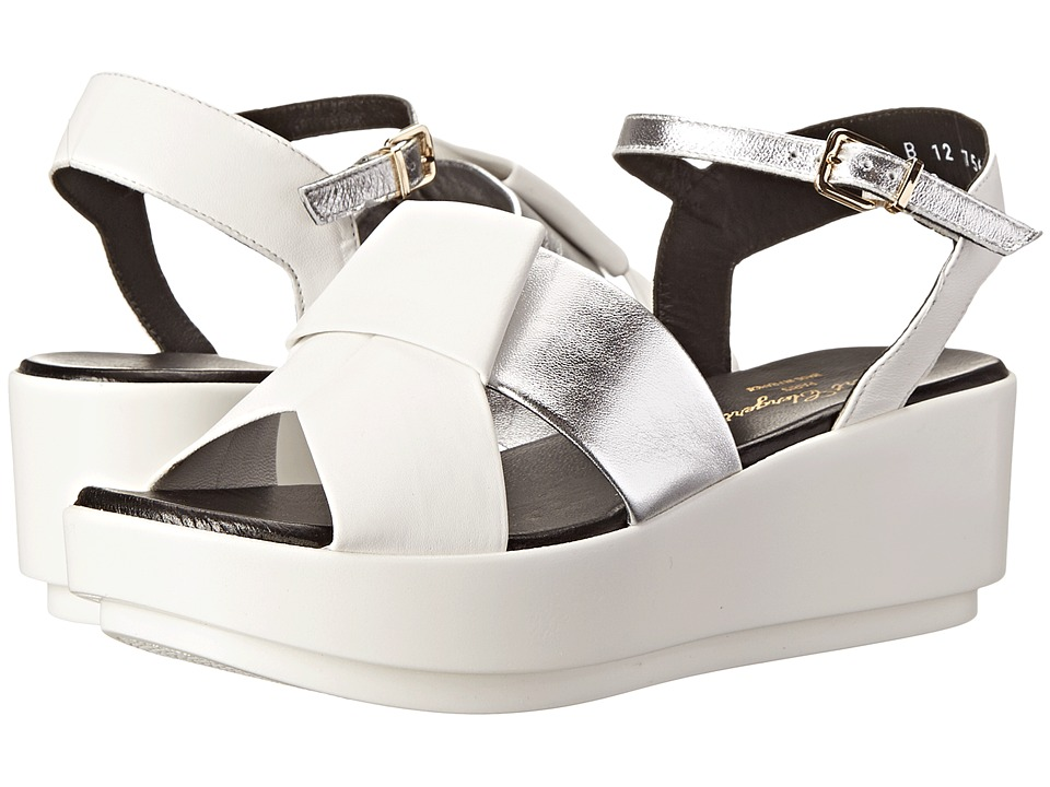 Robert Clergerie - Phiction (#885# SLVR NAPPA) Women's Wedge Shoes