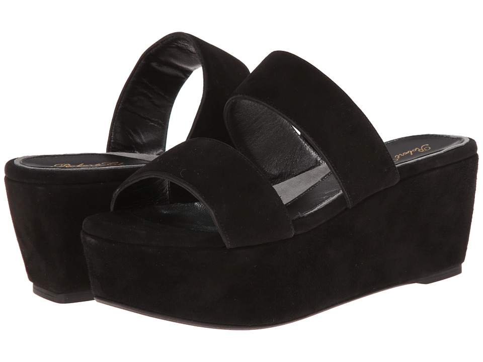 Robert Clergerie Frazziai (Black Suede) Women