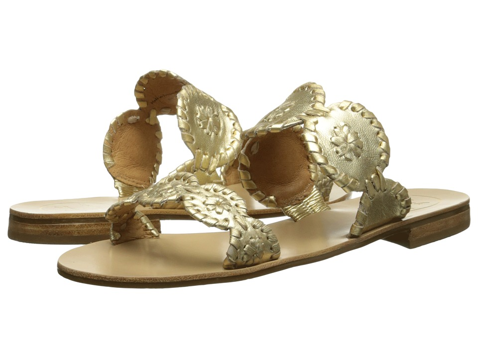 Jack Rogers - Lauren (Gold) Women's Slide Shoes