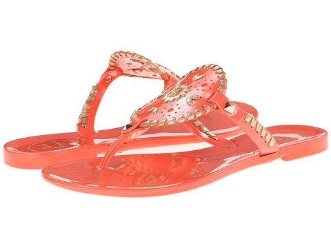 Jack Rogers - Georgica Jelly (Fire Coral/Gold) Women's Sandals