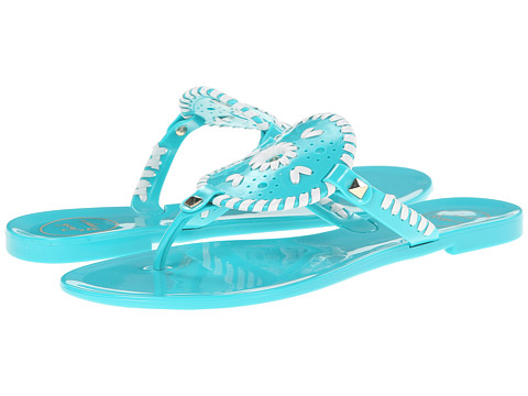 Jack Rogers - Georgica Jelly (Caribbean Blue/White) Women's Sandals
