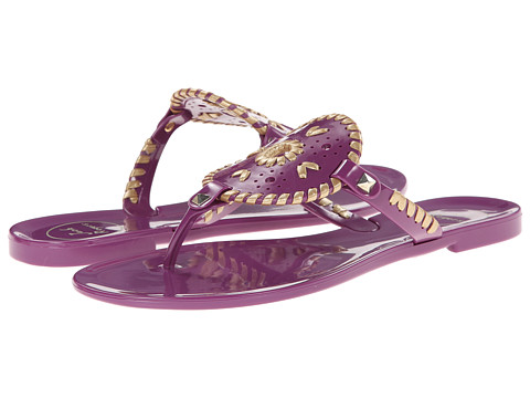 Jack Rogers - Georgica Jelly (Royal Purple/Gold) Women's Sandals