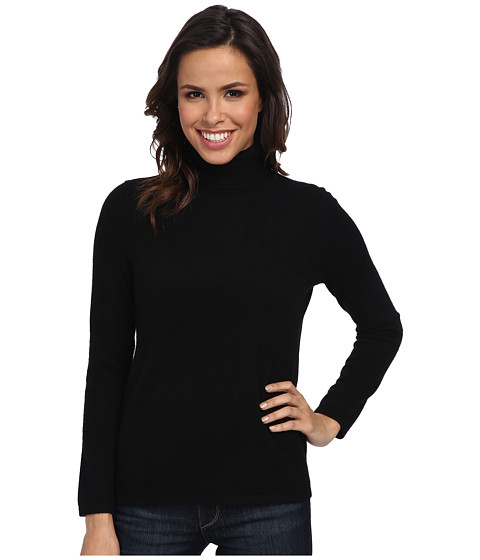 Pendleton - Cr me De Cashmere Turtleneck (Black 1) Women's Sweater
