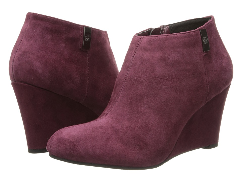 Anne Klein - AKTrumble (Burnt Wine Suede) Women's Wedge Shoes
