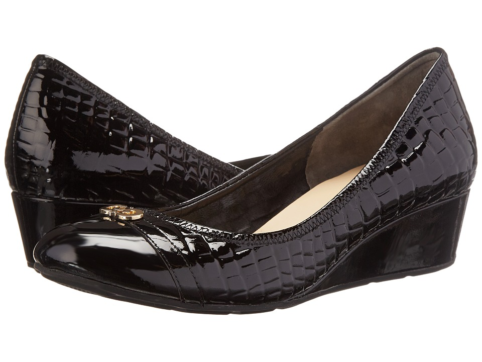 Cole Haan - Tali Wedge Logo (Black Croc Print WP) Women