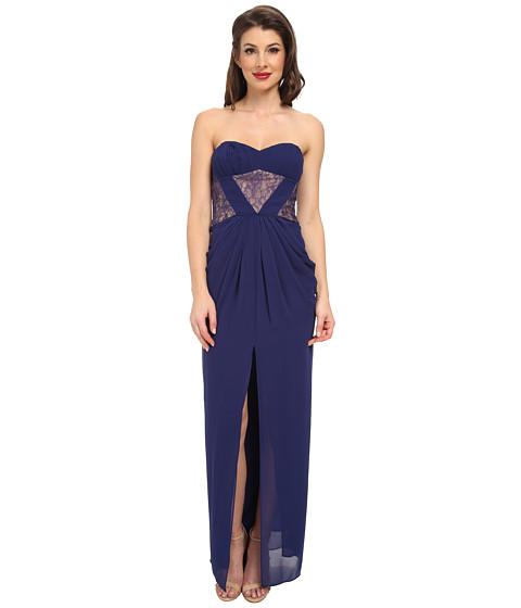 BCBGMAXAZRIA - Natalea Strapless Gown (Orient Blue) Women's Dress