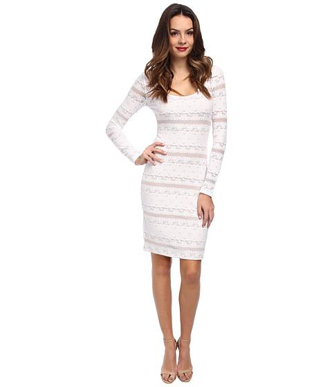 BCBGMAXAZRIA - Tanya Lace Cocktail Dress (White) Women