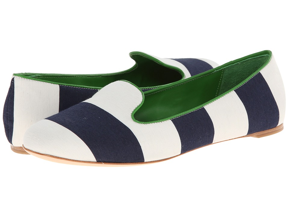 Johnston & Murphy - Riley Slipper (Navy/White) Women's Slippers