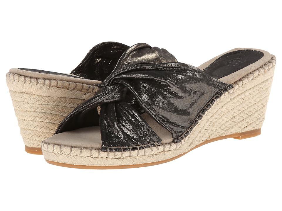 Johnston & Murphy - Ainsley Draped Slide (Pewter Metallic) Women's Slide Shoes