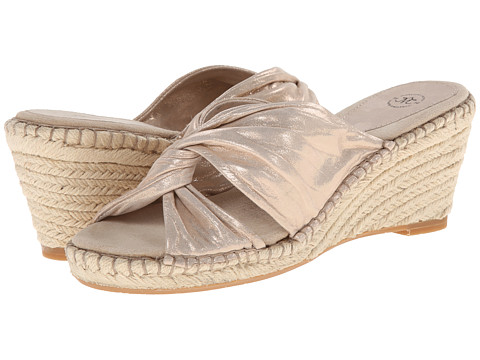 Johnston & Murphy - Ainsley Draped Slide (Platinum Metallic) Women's Slide Shoes