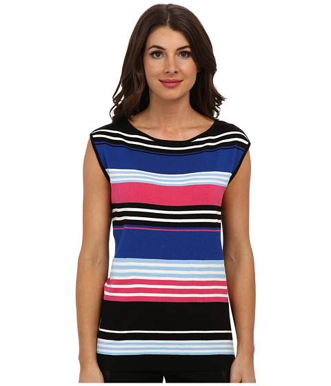 Jones New York - Extended Sleeve Pullover (Black Multi) Women's Sleeveless