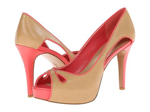 Nine West - Cutthetude (Light Natural/Orange Leather) High Heels