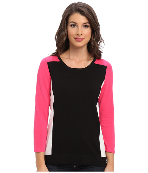 Jones New York - Color Blocked Pullover (Pink Glaze Multi) Women