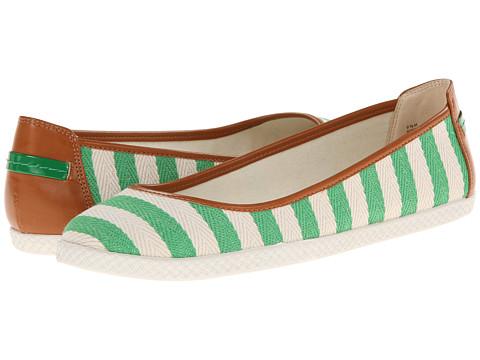 Nine West - Royalli (Green Nautical Fabric) Women's Flat Shoes