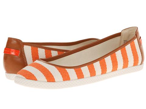 Nine West - Royalli (Orange Nautical Fabric) Women's Flat Shoes