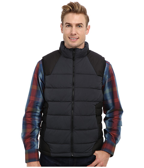 Robert Graham - Stratford Woven Puffer Vest (Charcoal) Men's Vest