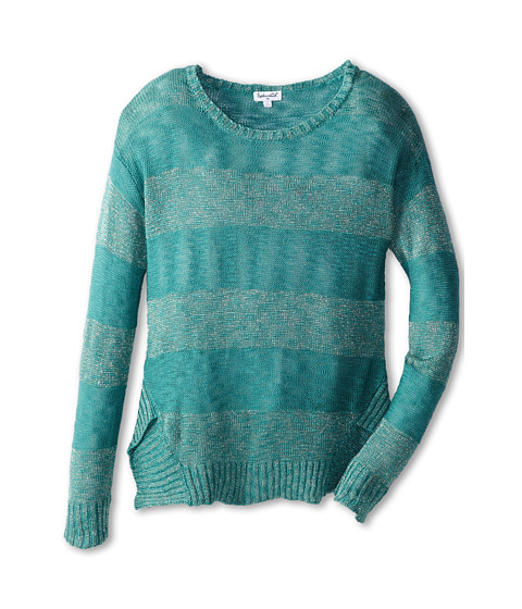 Splendid Littles - Cut and Sew L/S Top and Cami (Big Kids) (Teal) Girl's Long Sleeve Pullover