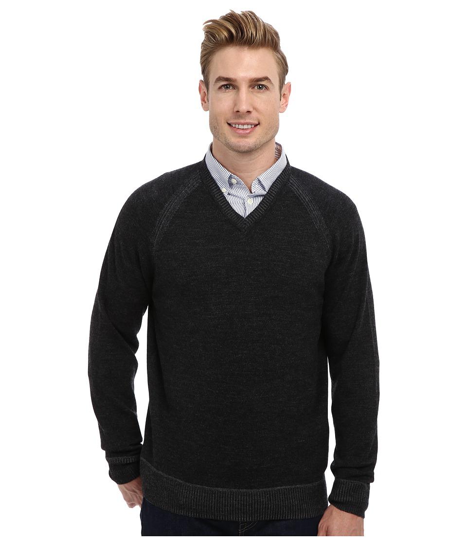 Robert Graham - The Cottage L/S V-Neck Knit Sweater (Black) Men