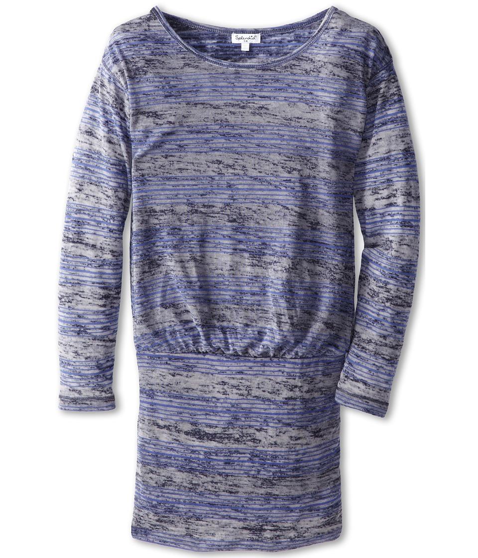 Splendid Littles - Jersey Burnout Dress (Bid Kids) (Navy) Girl's Dress