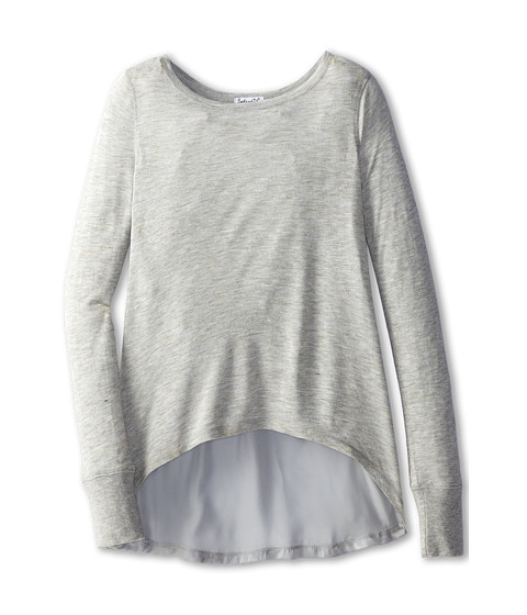 Splendid Littles - Jersey with Speckle L/S Tunic (Big Kids) (Heather) Girl's Long Sleeve Pullover