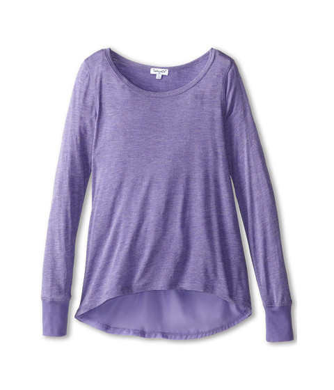 Splendid Littles - Jersey with Speckle L/S Tunic (Big Kids) (Purple) Girl's Long Sleeve Pullover