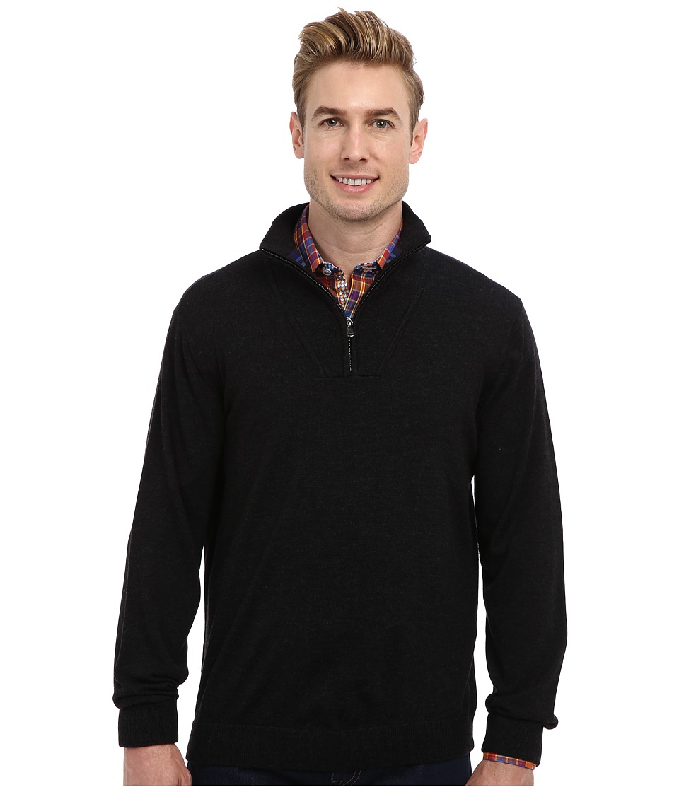 Robert Graham - Dene L/S Merino Sweater (Black) Men's Sweater