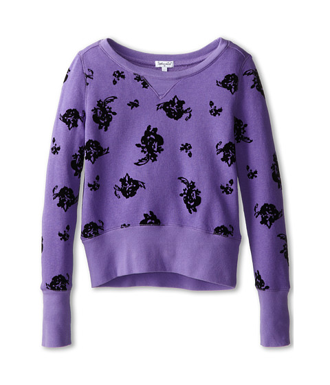 Splendid Littles - City Sweatshirt Rose Print (Big Kids) (Purple) Girl