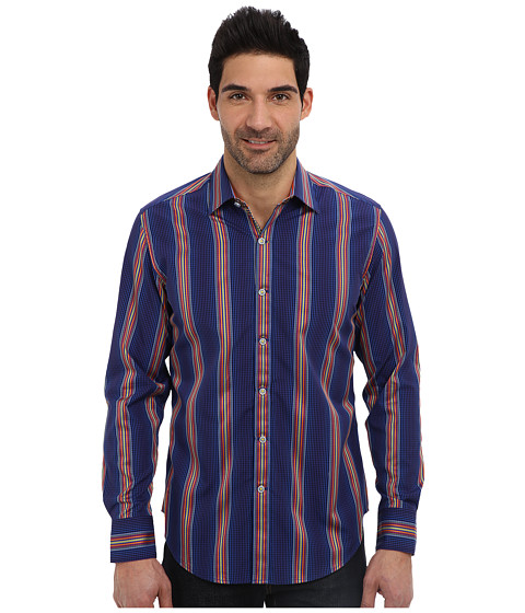 Robert Graham - X Tailored Fit Tappen L/S Woven Sport Shirt (Blue) Men