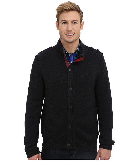Robert Graham - Cop Cot L/S Sweater Jacket (Black) Men's Coat