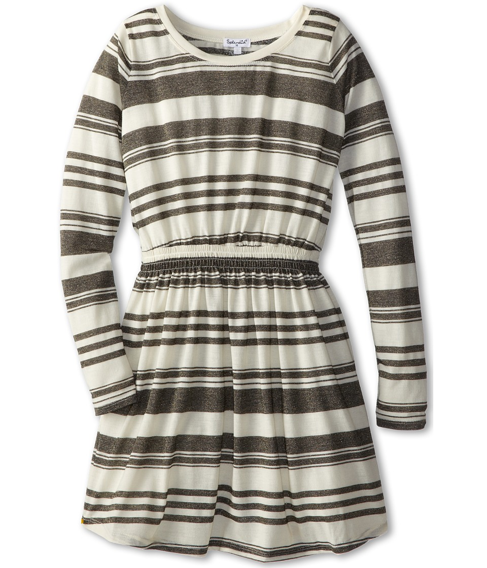 Splendid Littles - Y/D L/S Dress (Big Kids) (White) Girl's Dress