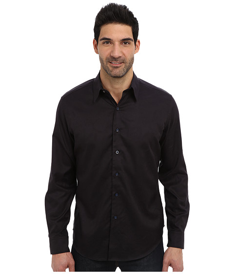 Robert Graham - Pyramid L/S Woven Sport Shirt (Black) Men's Long Sleeve Button Up