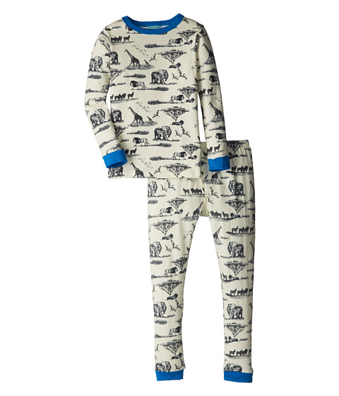 BedHead Kids - Snug Fit L/S Classic PJ (Toddler/Little Kids) (Black Safari Toile) Girl's Pajama Sets