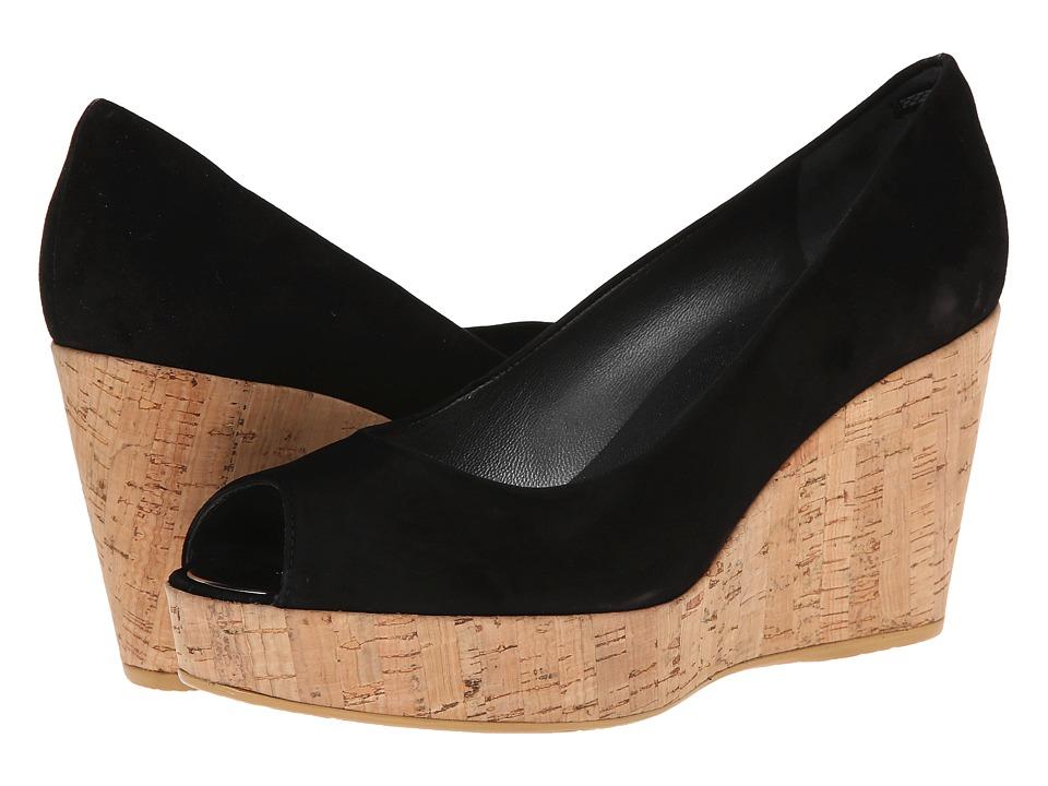 Stuart Weitzman - Anna (Black Suede) Women's Wedge Shoes