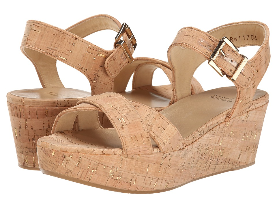 Stuart Weitzman - Playdate (Gold Nude Cork) Women's Shoes