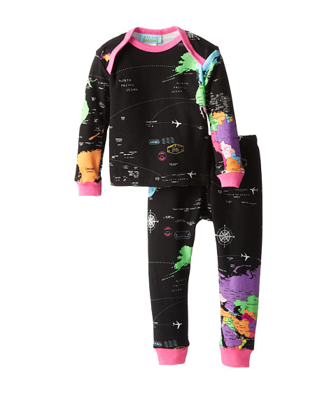 BedHead Kids - Baby L/S Tee Pant (Infant) (Around The World) Girl's Pajama Sets