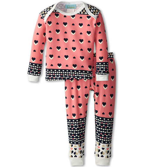BedHead Kids - Baby L/S Tee Pant (Infant) (Hearts Galore) Girl's Pajama Sets