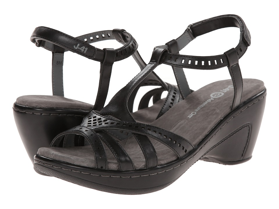 J-41 - Claire (Black) Women's Wedge Shoes