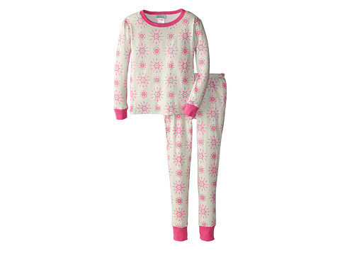 BedHead Kids - Snug Fit L/S Classic PJ (Big Kids) (Pink Snowflake) Girl