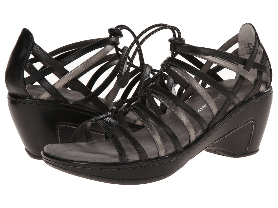 J-41 - Augustine (Black) Women's Wedge Shoes