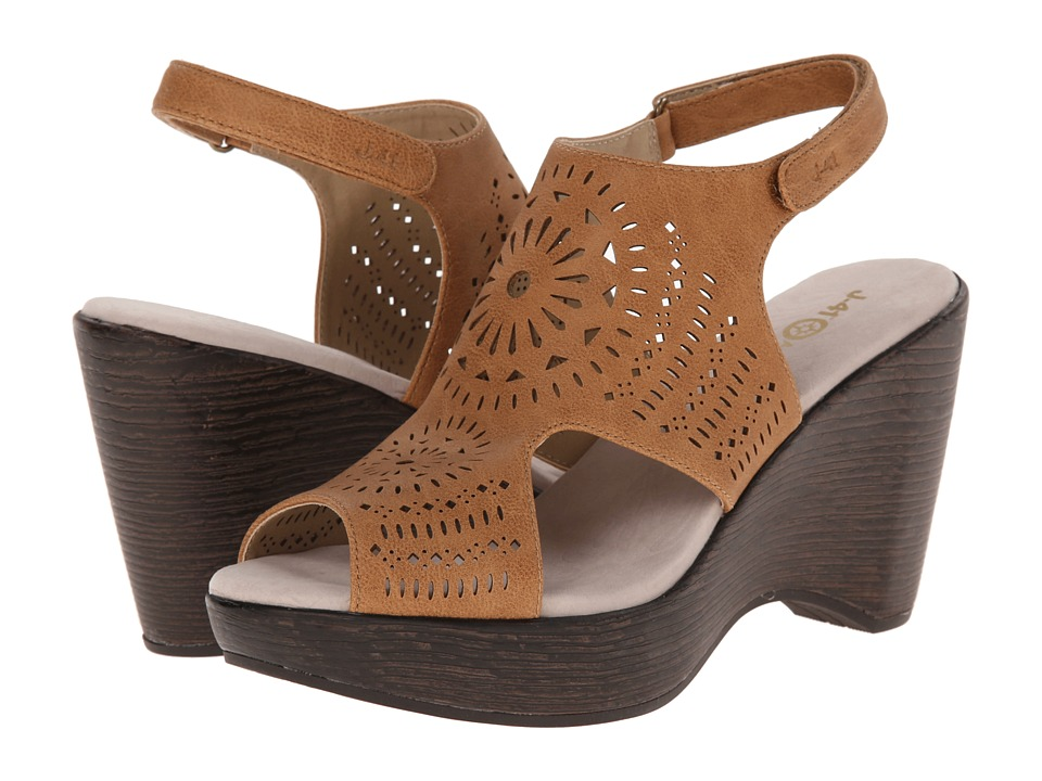 J-41 - Brooklyn (Tan) Women's Wedge Shoes