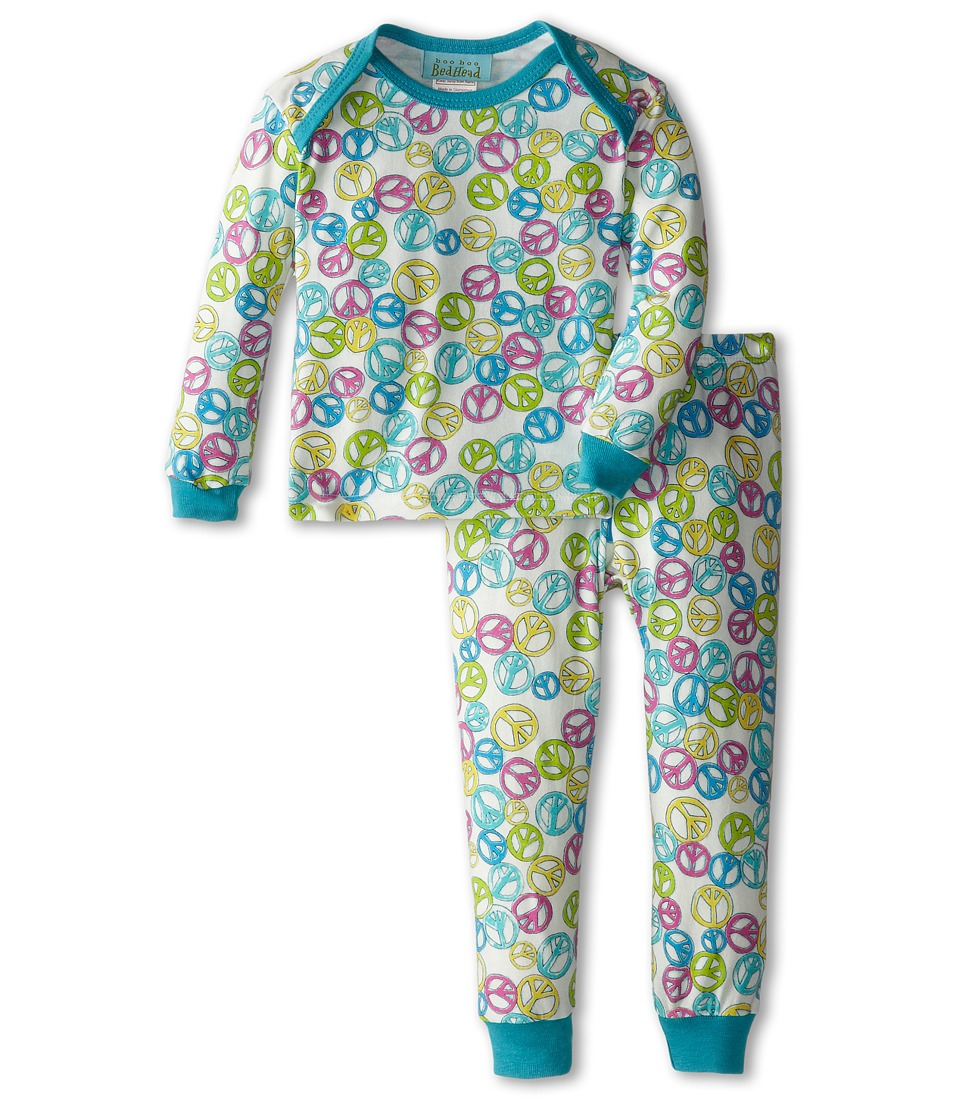 Image of BedHead Kids - Baby L/S Tee Pant (Infant) (Peace Out) Girl's Pajama Sets