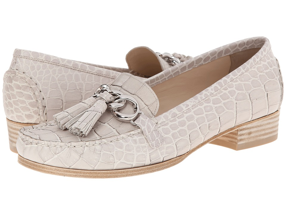 Stuart Weitzman - Bobolink (Cream Regent Croco) Women's Slip on Shoes