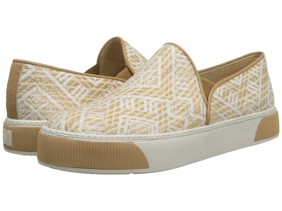 Stuart Weitzman - Pipenuggets (White Inca Raffia) Women's Slip on Shoes