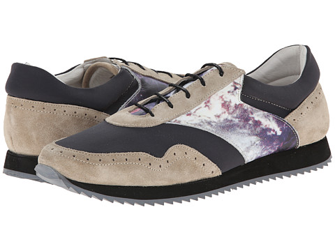 SWEAR - Andie 1 (Light Grey Suede/Anthracite Nylon/Marble 1 Print Leather) Lace up casual Shoes