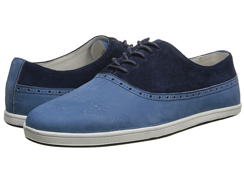 SWEAR - Frank 3 (Blue Leather/Blue Suede) Men's Lace up casual Shoes