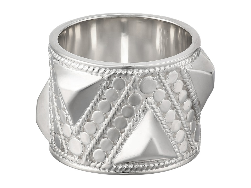 Anna Beck - Triangle Stud Band Ring (Sterling Silver) Ring