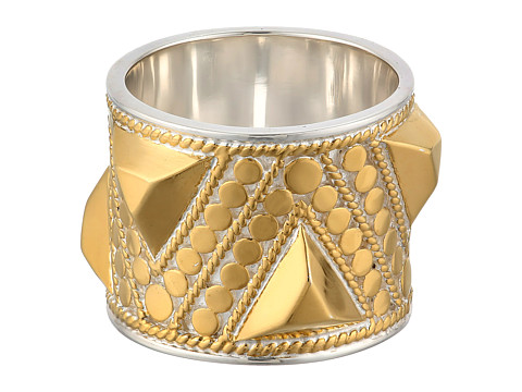 Anna Beck - Triangle Stud Band Ring (Sterling Silver w/ 18K Gold Vermeil) Ring